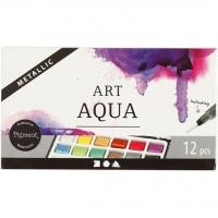 Art Aqua Aquarellfarbe metallic 12er Metallkasten