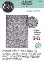 Sizzix 3-D Textured Impressions Embossing Folder - Folk Doodle