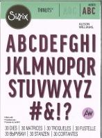 Sizzix Thinlits Die Set 30PK - Bold Alphabet