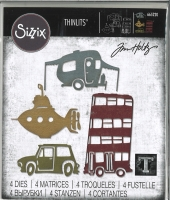 Sizzix Thinlits Die Set 4PK - Wacky Transport #1 by Tim Holtz