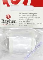Rayher Perlenaufreihgarn ø 0,5mm 100m weiß