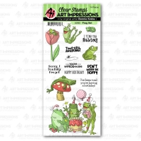 Art Impressions Funny Farm Clear Stamps - Frog