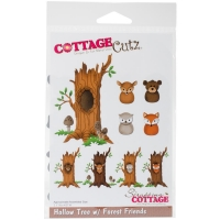 CottageCutz Dies - Hollow Tree w/ Forest Friends