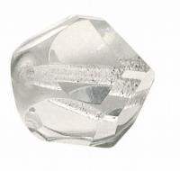 Glasschliffperle: Fancy Cut 14mm bergkristall (Restbestand)