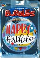 Bubbleballon Happy Birthday Circles and Dot Patterns