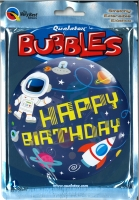 Bubbleballon Happy Birthday Outer Space