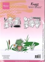 Marianne Design Stanzen und Clear Stamps Frösche