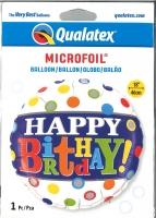 Folienballon Dots - Happy Birthday