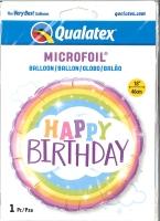 Folienballon Cloud - Happy Birthday