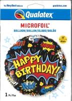 Folienballon Comic black - Happy Birthday