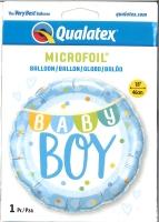 Folienballon Baby Boy Girlande