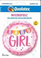 Folienballon Baby Girl Girlande