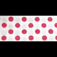 Feinkrepp weiß mit roten Punkten 50cm x 2,5m