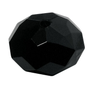 Acryl-Schmuck-Perle facettiert 18mm schwarz (Restbestand)