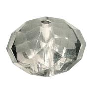 Acryl-Schmuck-Perle facettiert 18mm stahlgrau