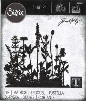 Sizzix Thinlits Stanze - Flower Field by Tim Holtz
