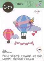 Sizzix Thinlits Stanze Set 10PK - Hot Air Balloon