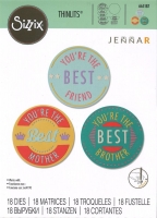 Sizzix Thinlits Stanze Set 18PK - Youre The Best