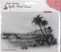 Nellies Choice clearstamp - Idyllisch Floral - Tropische Küste