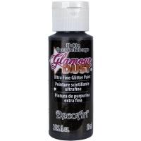 DecoArt Glamour Dust Ultra Fine Glitter Paint 59ml - Black ice (Restbestand)
