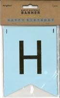 Bannergirlande Happy Birthday hellblau