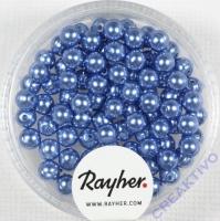 Renaissance Glaswachsperlen, 4 mm ø azurblau