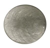 Perlmutt Schmuckelement Scheibe 40mm stahlgrau (Restbestand)