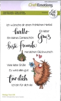 Clearstamps A6 - Hedgy Text