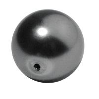 Glaswachsperle Kugel 16mm stahlgrau (Restbestand)