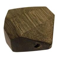 Holzperle Diamantschliff 20x25mm stahlgrau (Restbestand)