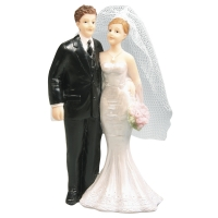 Polyresin Brautpaar, 11x6,5cm