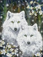 DIAMOND DOTZ Winter Wolves 51x66 cm