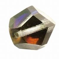 Glasschliffperle: Fancy Cut 14mm regenbogen (Restbestand)