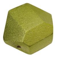 Holzperle Diamantschliff 12x17mm jade (Restbestand)