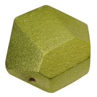 Holzperle Diamantschliff 22x27mm jade (Restbestand)