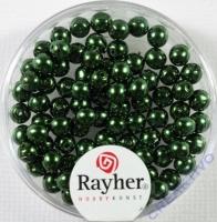 Renaissance Glaswachsperlen, 4 mm ø smaragd