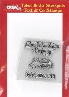Crealies Clearstamp Texte 5 - Prüfung / geschafft / Gut gemacht