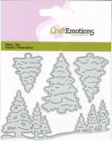 CraftEmotions Stanze - Weihnachtsbäume