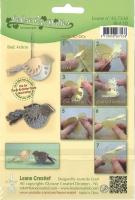 LeCrea 3D Präge- und Stanzschablone - Vogel