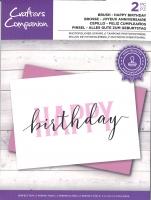 Brushletter Clearstamp - HAPPY birthday