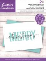 Brushletter Clearstamp - MERRY christmas