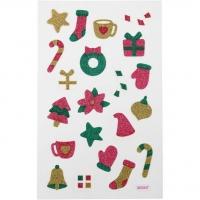 Glitzer-Sticker Weihnachen