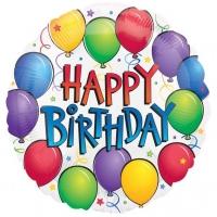 Folienballon Fun Birthday 43cm