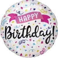 Folienballon Holographic Happy Birthday Sparkle Banner 45cm