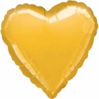 Folienherz uni metallic gold