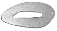 Holzelement oval 54x25mm stahlgrau (Restbestand)