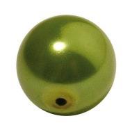Glaswachsperle Kugel 16mm jade (Restbestand)