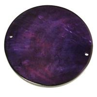 Perlmutt Schmuckelement Scheibe 30mm purple velvet