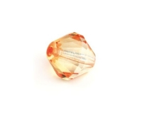 Glas-Facetten-Doppelkegel 14mm mandarine