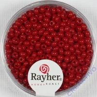 Rocailles 2,6mm ø opak rot